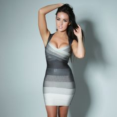 Black White Gray  bandage dress, perfect for clubbing! High quality bandage dresses