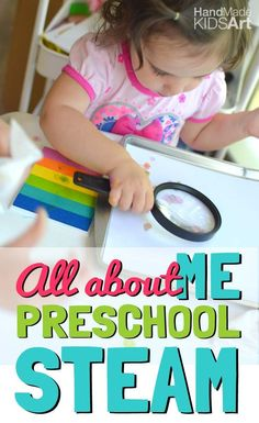 """Preschool Science Activity """"All About Me"""" Observe your unique fingerprint while learning how to use science tools."""