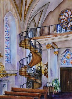 The Staircase of the Loretto Chapel in Santa Fe, New Mexico.