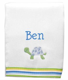 Designed with fabulous color combinations and funky prints, making a fashion statement while handling any mess baby throws your way.  These are the softest, most absorbent burpies available to protect baby's delicate skin. A Little Bit Of This Boy Turtle Burp Cloth. Click the image to get more information about the product, including personalization options, at our online store!
