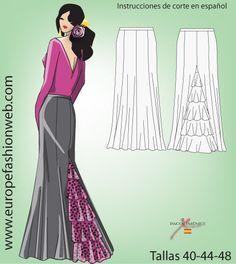 Falda flamenca con colín