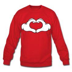 Mickey Hand Heart Crew neck 2.0 Sweatshirt  31859b9b39f22