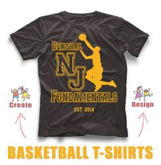 4a30abec Awesome custom basketball t-shirt design created in our online design studio!  Create yours