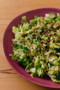 Broccoli Avocado Salad, I had a similar salad with just broccoli, avocado, peanuts, and chili garlic oil dressing. Soooo good.