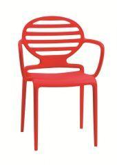 """<p>De <em>Cokka Braccio stoel</em> is een prachtige designstoel van het merk Scab Design uit Italia. Door het ontwerp in combinatie met de opvallende kleuren is het een echte blikvanger in het interieur. Op zoek naar een eigentijds ontwerp aan de eettafel? Wij van Robin-Design zijn al overtuigd.</p> <h2>Video van de Cokka Braccio stoel - Scab Design</h2> <p><iframe src=""""http://www.youtube.com/embed/VUGTo..."""