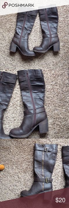 Rock&Candy boots Brown boots with zippers on both sides. Never worn. Shoes Heeled Boots