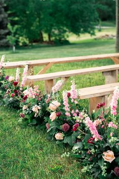The prettiest way to line your aisle. Wedding Arrangements, Wedding Ceremony Decorations, Wedding Ceremonies, Wedding Backdrops, Ceremony Backdrop, Wedding Decor, Botanical Wedding, Floral Wedding, Wedding Flowers
