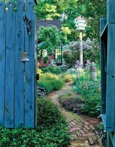 flowers herbs gardens gate and garden