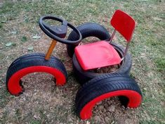 It& a cool way to make old tires play equipment # . This is a cool way to make old tires play equipment equipment Kids Outdoor Play, Outdoor Play Spaces, Kids Play Area, Backyard For Kids, Diy For Kids, Tyre Ideas For Kids, Play Ideas, Garden Ideas For Toddlers, Backyard Play Areas