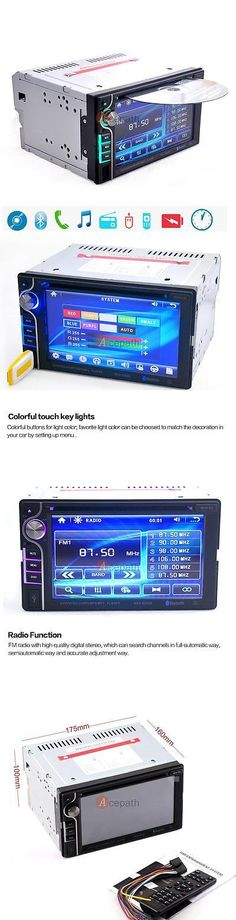Video In-Dash Units w o GPS: Double Din Hd 6.2 In Dash Stereo Audio Car Dvd Cd Player Bluetooth Radio Touch BUY IT NOW ONLY: $89.9