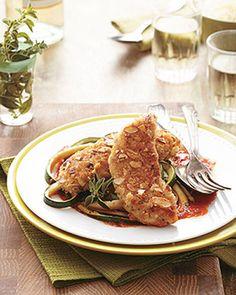Almond-Crusted Chicken  http://recipesjust4u.com/almond-crusted-chicken/