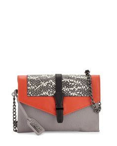 Adelle+Colorblock+Leather+Crossbody+Bag,+Dove/Multi+by+Badgley+Mischka+at+Neiman+Marcus+Last+Call.