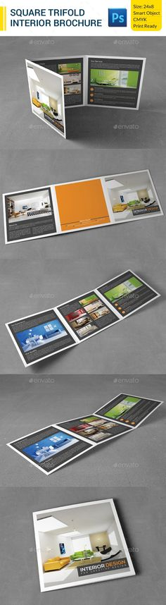 Square Trifold Interior Brochure