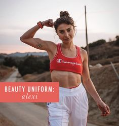 My Beauty Uniform: Alexi Pappas Fitness Workouts, Olympic Runners, Hill Workout, Beauty Uniforms, Cup Of Jo, Blue Eyeliner, Beauty Tutorials, Race Day, Losing Her