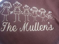 Personalized Family Cuddle Blanket by maggiesembroidery on Etsy, $35.00