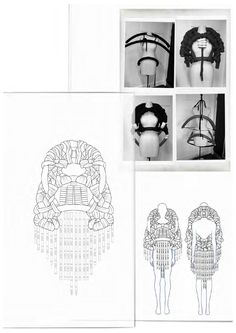 Fashion Sketchbook - knitwear design development, fashion drawings // Philli Wood Portfolio