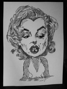 Caricature Merlin Monroe