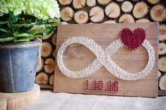 Custom date infinity string art, infinity love sign wall decor great gift for