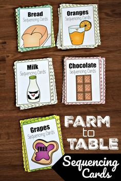 freehomeschooldeals fhdhomeschoolers sequencing hsfreebies processes hsmoms teach these table cards with free farm to Teach processes with these FREE Farm to Table Sequencing CardsYou can find Sequencing activities and more on our website Preschool Food, Preschool Science Activities, Farm Activities, Sequencing Activities, Free Preschool, Toddler Preschool, Harvest Activities, Preschool Projects, Preschool Worksheets