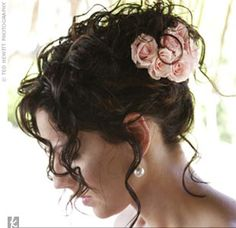 Up do with flowers