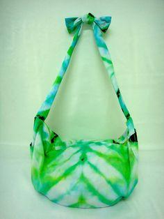 TBag // Upcycle shibori tie dye tshirt boho bag by kanjanahandmade,