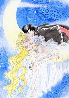 Dreaming Princess Serenity by ladymadge on DeviantArt Arte Sailor Moon, Sailor Moon Fan Art, Sailor Moon Usagi, Sailor Moon Crystal, Sailor Mars, Sailor Scouts, Princesa Serenity, Sailer Moon, Sailor Moon Wallpaper