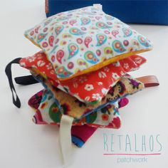 Patchwork #Handmade with #lavender and #rosemary / Saquinhos de Alfazema e Alecrim, #Patchwork manual.