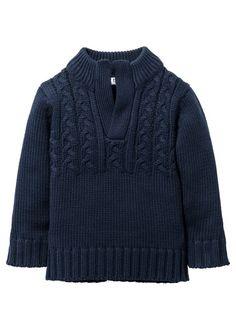 Grovstickad tröja, bpc bonprix collection, mörkblå