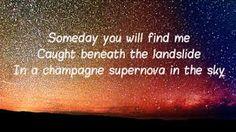 Oasis - Champagne Supernova Lyrics