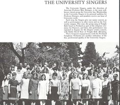 University Singers 1965-66. From the 1966 Oregana (University of Oregon yearbook). www.CampusAttic.com