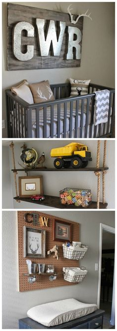 Hunting and Fishing Nursery - love the rustic design and fun decor. Perfect for a baby boy!