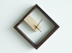 Modern Frame Wall and Table Clock - VanMinden Diy Clock, Clock Decor, Clock Display, Wall Clock Wooden, Wood Clocks, Clock Wall, Diy Wall Clocks, Wood Wall, Modern Clock