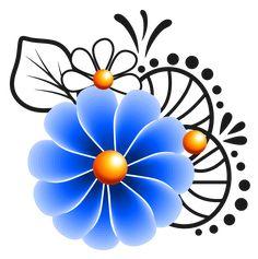One Stroke Painting, Oil Painting Flowers, Felt Flowers, Blue Flowers, Flower Pot Art, Nail Salon Design, Mandala Drawing, Handmade Decorations, Painted Rocks