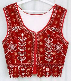 Folk Embroidery Traditional folk woman waist coat from region Swietokrzyskie in Poland Polish Embroidery, Folk Embroidery, Embroidery Fashion, Floral Embroidery, Polish Clothing, Folk Clothing, Art Costume, Folk Costume, Polish Folk Art