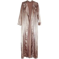 Satin Floor Robe (150 BRL) ❤ liked on Polyvore featuring outerwear, jackets, coats and robe