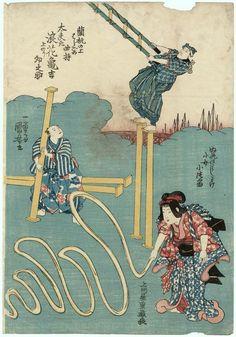 Utagawa Kuniyoshi: Acrobats - Museum of Fine Arts