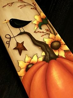 Design Maxine Thomas painted by Ross Design Maxine Thomas painted .Design Maxine Thomas painted by Ross Design Maxine Thomas painted by RossFree up some space with these ideas for open kitchen shelves - Fall Canvas Painting, Autumn Painting, Autumn Art, Painting On Wood, Fall Crafts, Holiday Crafts, Dyi Crafts, Decor Crafts, Wood Crafts