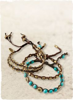 Bohemian inspired bracelets