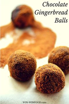 Chocolate Gingerbread Balls | These raw Chocolate Gingerbread Balls are decadent yet healthy cookies that melt in your mouth.