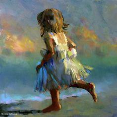 Child's Play by Trisha Adams Oil ~ 30 x 30