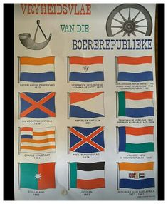 Vryheidsvlae van die Boerevolk se republieke. ( Erkenning Johan Fourie) Union Of South Africa, Defence Force, My Land, Historical Pictures, African History, History Facts, Cape Town, Childhood Memories, Homemade Bookmarks