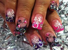 November Nail Art | Just because it's Christmas doesn't mean you have to do red, green and ...