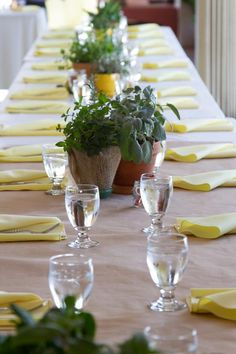 simple + colorful table setting