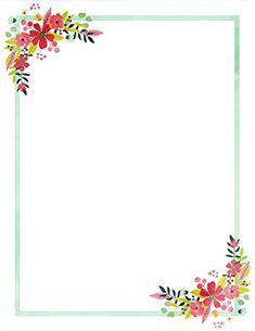 Frame Border Design, Page Borders Design, Framed Scrapbook Paper, Wedding Invitation Background, Free Printable Stationery, Eid Crafts, Rose Gold Wallpaper, Stationery Paper, Floral Border