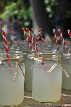 farm birthday party / crown jars with pink lemonade / pink straws