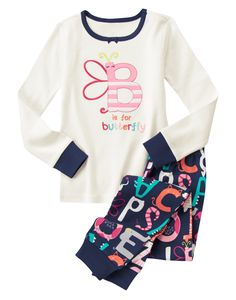 B Is For Butterfly Two-Piece Gymmies® at Gymboree (Gymboree 4-10y)