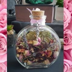 a love blessing Place this bottle in the bedroom or any other intimate place where love flows freely ❤ www.thecrystaljypsy.com