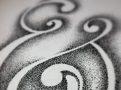 Stipple with Negative Space