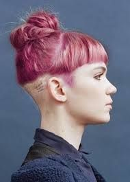 I like the idea of this too much for my own good. However  I wouldn't buzz the back as short as that and I'd have side swept bangs instead of straight.