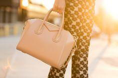 Givenchy Small Antigona in nude/blush A Little Retro Glam :: Draped neckline